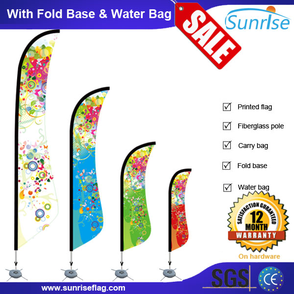 2.0/2.5/3.5/4.7m Surf Flag Single/Double Sided